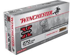 Winchester Super-X Power-Core 95/5 Ammunition 270 Winchester Short Magnum (WSM) 130 Grain Hollow Point Boat Tail Lead-Free Box of 20
