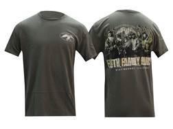 "Duck Commander Men's ""Faith. Family. Ducks"" T-Shirt Short Sleeve Cotton Moss Large"