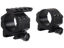 Millett 30mm Picatinny-Style Tactical Rings with Accessory Rail Matte Low