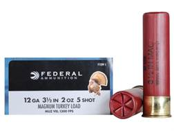 "Federal Strut-Shok Turkey Ammunition 12 Gauge 3-1/2"" 2 oz Buffered #5 Shot Box of 10"