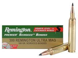 Remington Premier Power Level 2 Ammunition 300 Remington Ultra Magnum 180 Grain Swift Scirocco Polymer Tip Box of 20