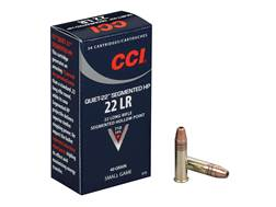 CCI Quiet Ammunition 22 Long Rifle 40 Grain Segmented Lead Hollow Point