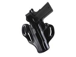 DeSantis Thumb Break Scabbard Belt Holster FN FNS Longslide 9mm, 40S&W Suede Lined Leather