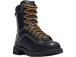 "Danner Quarry 8"" Waterproof Uninsulated Aluminum Toe Work Boots Leather Black Men's"