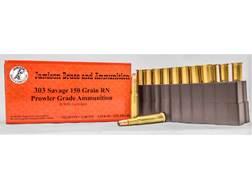 Jamison Ammunition 303 Savage 150 Grain Round Nose Flat Point Box of 20