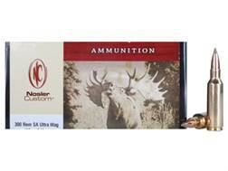 Nosler Custom Ammunition 300 Remington Short Action Ultra Magnum 180 Grain E-Tip Lead-Free Box of 20