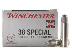 Winchester Super-X Ammunition 38 Special 158 Grain Lead Round Nose