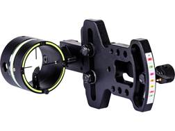 "HHA Sports Optimizer Lite 5219X 1-Pin Bow Sight with Crosshair Scope .019"" Pin Diameter Right Hand Aluminum Black"