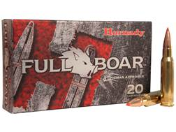Hornady Full Boar Ammunition 308 Winchester 165 Grain Gliding Metal Expanding Boat Tail Box of 20