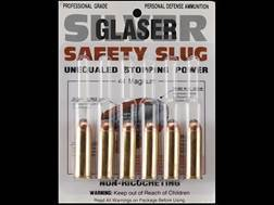 Glaser Silver Safety Slug Ammunition 44 Remington Magnum 135 Grain Safety Slug Package of 6