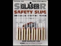 Glaser Silver Safety Slug Ammunition 44 Remington Magnum 135 Grain Safety Slug Package of 6