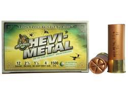 "Hevi-Shot Hevi-Metal Waterfowl Ammunition 12 Gauge 2-3/4"" 1-1/8 oz #4 Non-Toxic Box of 25"
