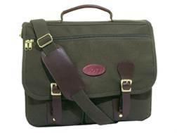 """Boyt Briefcase Bag 17"""" x 12"""" x 5"""" Canvas Green"""