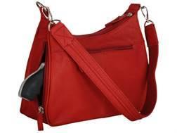 Gun Tote'N Mamas Basic Hobo Handbag Leather Red