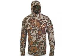 First Lite Men's Chama Hooded Sweatshirt Merino Wool Fusion Camo Large 42-45
