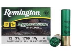 "Remington HyperSonic Ammunition 12 Gauge 3-1/2"" 1-3/8 oz #4 Non-Toxic Steel Shot Box of 25"