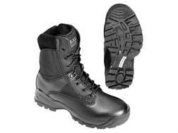 "5.11 ATAC 8"" Uninsulated Tactical Boots Side Zip Leather and Nylon Black Men's"