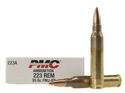 PMC Bronze Ammunition 223 Remington 55 Grain Full Metal Jacket Boat Tail Box of 20