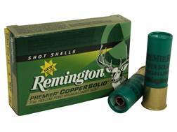 "Remington Premier Ammunition 12 Gauge 3"" 1 oz Copper Solid Sabot Slug Lead-Free Box of 5"