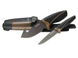Gerber Myth Field Dressing Kit 2 Knife Set Stainless Steel Blades with Rubber Handles Black and Brown