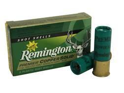 "Remington Premier Ammunition 12 Gauge 2-3/4"" 1 oz Copper Solid Sabot Slug Lead-Free Box of 5"