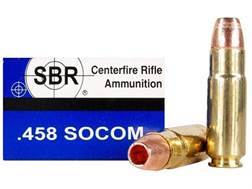 SBR Ammunition 458 SOCOM 250 Grain Barnes Triple-Shock X Bullet Hollow Point Lead-Free Box of 20