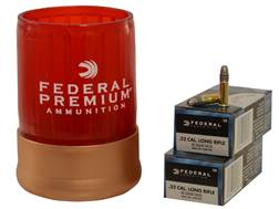 Federal Can Cooler Combo (Champion Ammunition 22 Long Rifle High Velocity 40 Grain Lead Round Nos...