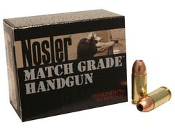 Nosler Match Grade Ammunition 9mm Luger 115 Grain Jacketed Hollow Point Box of 20