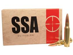 Silver State Armory Ammunition 308 Winchester 168 Grain Nosler Custom Competition Hollow Point Boat Tail Box of 20