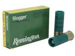 """Remington Slugger Ammunition 12 Gauge 3"""" 1 oz Rifled Slug Box of 5"""