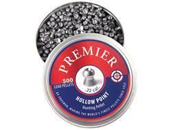 Crosman Premier Airgun Pellets 22 Caliber 14.3 Grain Hollow Point Tin of 500