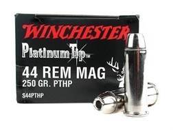 Winchester Supreme Ammunition 44 Remington Magnum 250 Grain Platinum Tip Hollow Point