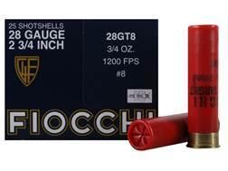 """Fiocchi Game & Target Ammunition 28 Gauge 2-3/4"""" 3/4 oz #8 Shot"""