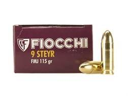 Fiocchi Shooting Dynamics Ammunition 9mm Steyr 115 Grain Full Metal Jacket Box of 50