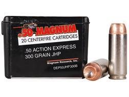 Magnum Research Ammunition 50 Action Express 300 Grain Jacketed Hollow Point Box of 20