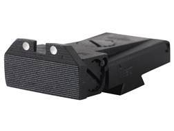 Kensight Adjustable Rear Sight 1911 LPA TRT Cut Steel Black Beveled Blade Serrated with White Dots