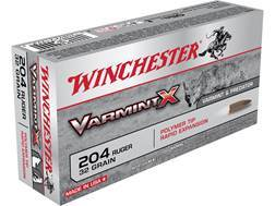 Winchester Varmint X Ammunition 204 Ruger 32 Grain Polymer Tip Case of 200 (10 Boxes of 20)