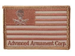 Advanced Armament Co (AAC) Flag Patch Hook-&-Loop Fastener Tan