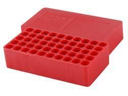 MTM Slip-Top Ammo Box 38 Special, 357 Magnum Round Hole 50-Round Plastic Red