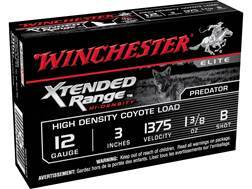 "Winchester Supreme Elite Xtended Range Hi-Density Coyote Ammunition 12 Gauge 3"" 1-3/8 oz B Shot Lead-Free"