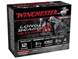 """Winchester Long Beard XR Turkey Ammunition 12 Gauge 3-1/2"""" 2-1/8 oz #4 Copper Plated Shot"""