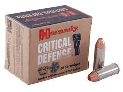Hornady Critical Defense Ammunition 45 Colt (Long Colt) 185 Grain Flex Tip eXpanding Box of 20