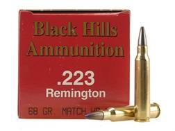 Black Hills Ammunition 223 Remington 68 Grain Match Hollow Point Box of 50