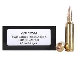 Doubletap Ammunition 270 Winchester Short Magnum (WSM) 110 Grain Barnes Triple-Shock X Bullet Hollow Point Lead-Free Box of 20
