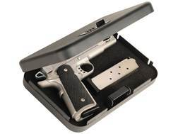"Secure-It Combination Lock Long Hinge Large Pistol Security Box 9-1/2"" x 6-1/2"" x 1-3/4"" Steel Black"