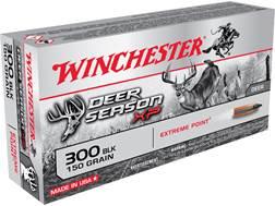 Winchester Deer Season XP Ammunition 300 AAC Blackout 150 Grain Extreme Point Polymer Tip