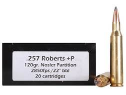 Doubletap Ammunition 257 Roberts +P 120 Grain Nosler Partition Box of 20