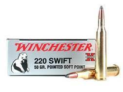 Winchester Super-X Ammunition 220 Swift 50 Grain Pointed Soft Point