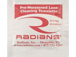 Radians Lens Cleaning Towelettes Box of 100