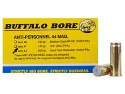 Buffalo Bore Ammunition 44 Remington Magnum 200 Grain Hard Cast Wadcutter Anti-Personnel Box of 20